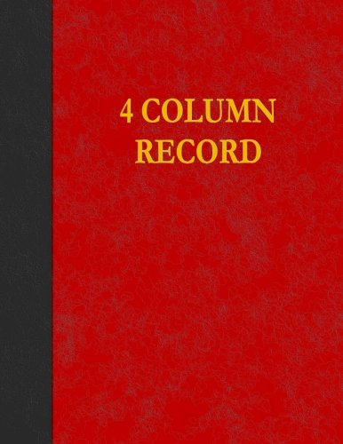 4 Column Record: 100 Page Account Book