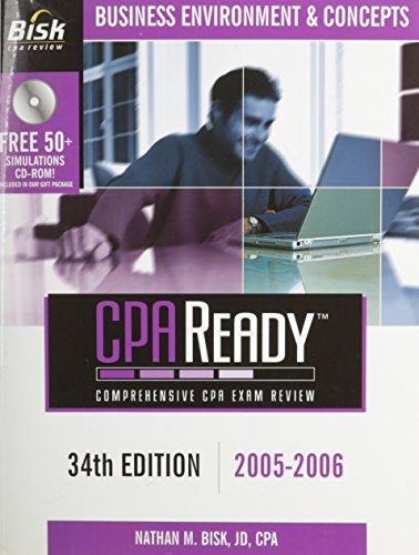 CPA Ready Comprehensive CPA Exam Review - 36th Edition 2007-2008: Business Environment & Concepts (Cpa Comprehensive Exam Review Business Environm
