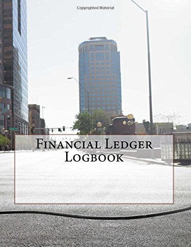 Financial Ledger Logbook: 3 Columns per Page - 150 Sheets (300 Pages)