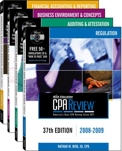 Bisk CPA Review: 4-Volume Set - 37th Edition 2008-2009 (Comprehensive CPA Exam Review 4-Volume Set)