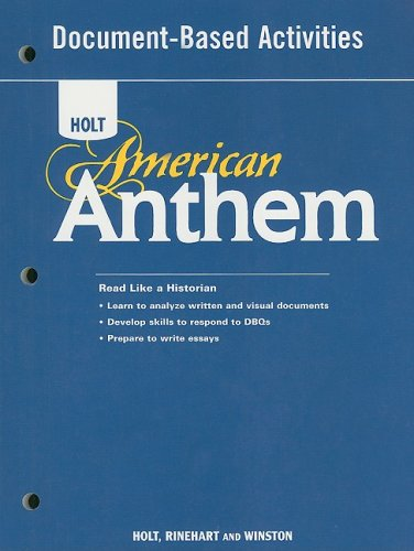 American Anthem: Document-Based Activities for American History