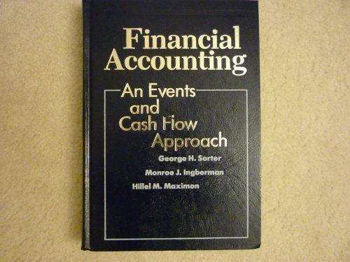 Financial Accounting: An Events and Cash Flow Approach