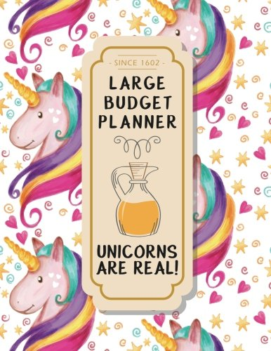 Large budget planner: Unicorn Design : Budget Planner (included yearly tracker review) 8.5*11 inches (Monthly Bill Tracker) (Volume 3)