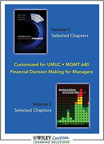 Financial Decision Making for Managers