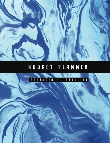 Budget Planner: Light Blue Marble Large budget planner : Expense tracker for 24 Months : Graph Paper Included