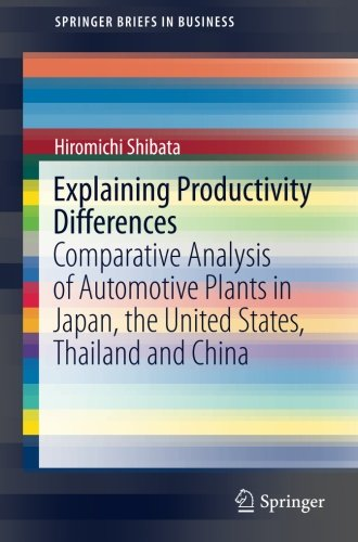 Explaining Productivity Differences: Comparative Analysis of Automotive Plants in Japan, the United States, Thailand and China (SpringerBriefs in