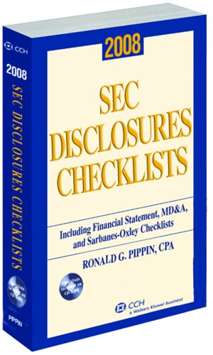 SEC Disclosures Checklists, (2012 Edition) W/ CD-ROM