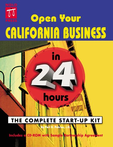 The Small Business Start-Up Kit for California with CDROM