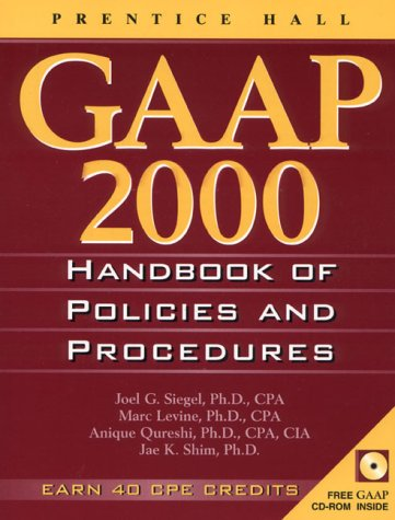 Gaap Handbook of Policies and Procedures, 2000