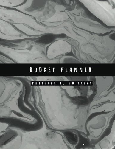 Budget Planner: Dark Marble Large budget planner : Expense tracker for 24 Months : Graph Paper Included
