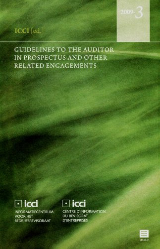 Guidelines to the Auditor in Prospectus and Other Related Engagements (ICCI)