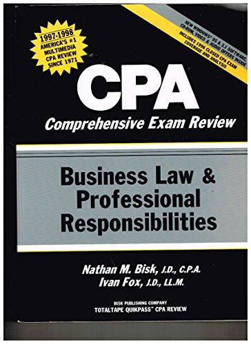 Cpa Comprehensive Exam Review: Business Law & Professional Responsibilities/1997-1998