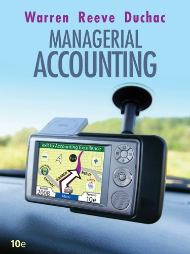 Managerial Accounting (Available Titles CengageNOW)