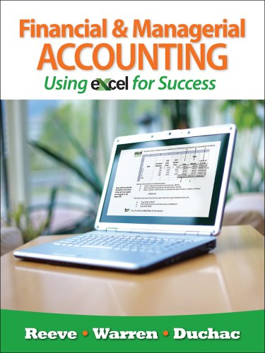 Bundle: Financial and Managerial Accounting Using Excel for Success + Essential Resources: Excel Tutorials Printed Access Card + CengageNOW with e