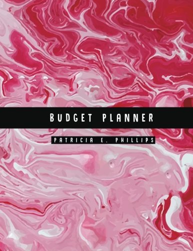 Budget Planner: Red Marble Large budget planner : Expense tracker for 24 Months : Graph Paper Included (Volume 2)