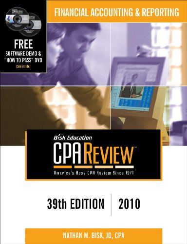 Bisk CPA Review: Financial Accounting & Reporting - 39th Edition 2010 (Comprehensive CPA Exam Review Financial Accounting & Reporting) (Bisk Compr