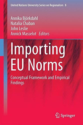 Importing EU Norms: Conceptual Framework and Empirical Findings (United Nations University Series on Regionalism)