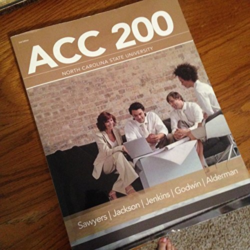ACC 200 Managerial Accounting