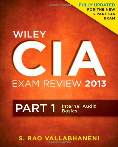 Wiley CIA Exam Review 2013, Part 1, Internal Audit Basics