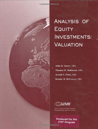 Analysis of Equity Investments: Valuation