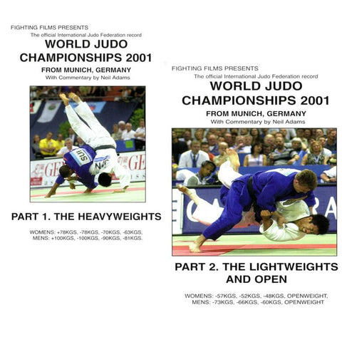 DVD 2001 World Judo Championships Munich, Part 2. Lightweights & Open