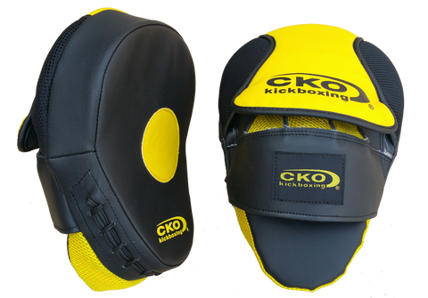 CKO Black & Yellow Pro Training Focus Mitts