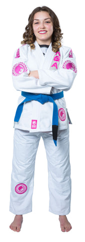 Renzo Gracie Academy Women's Gi White/Pin