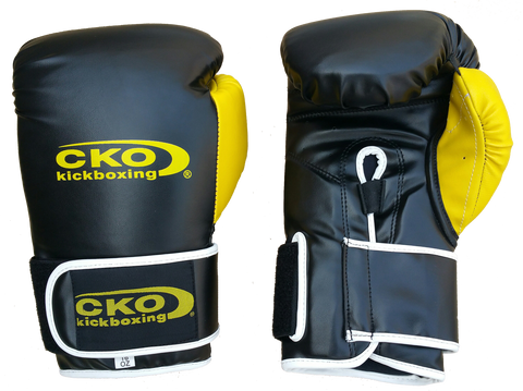 CKO Black & Yellow Pro Boxing Gloves