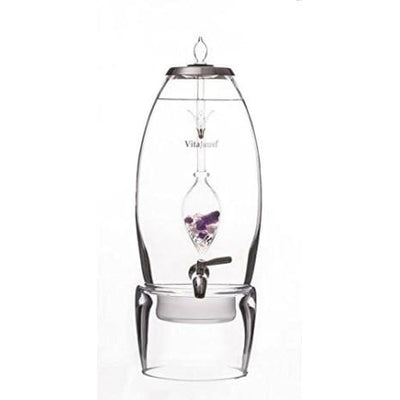 Vitajuwel Dispenser Grande Decanter + Stand - Water Fountain - 2 Gallons Gem Water Works With All Gemstone Vials - Home & Kitchen