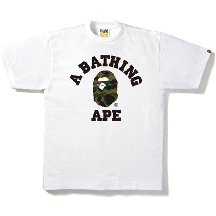 BAPE 1st Camo College Tee White/Green