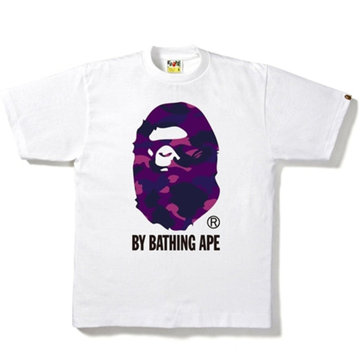 BAPE Color Camo By Bathing Tee White/Purple