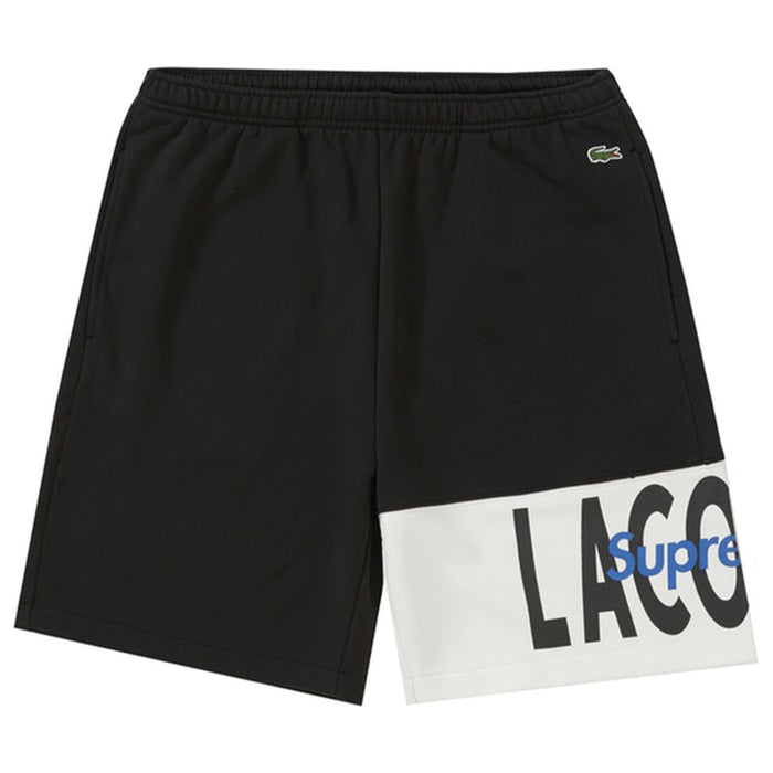 Supreme LACOSTE Logo Panel Sweatshort Black