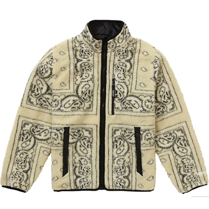 Supreme Reversible Bandana Fleece Jacket Tan