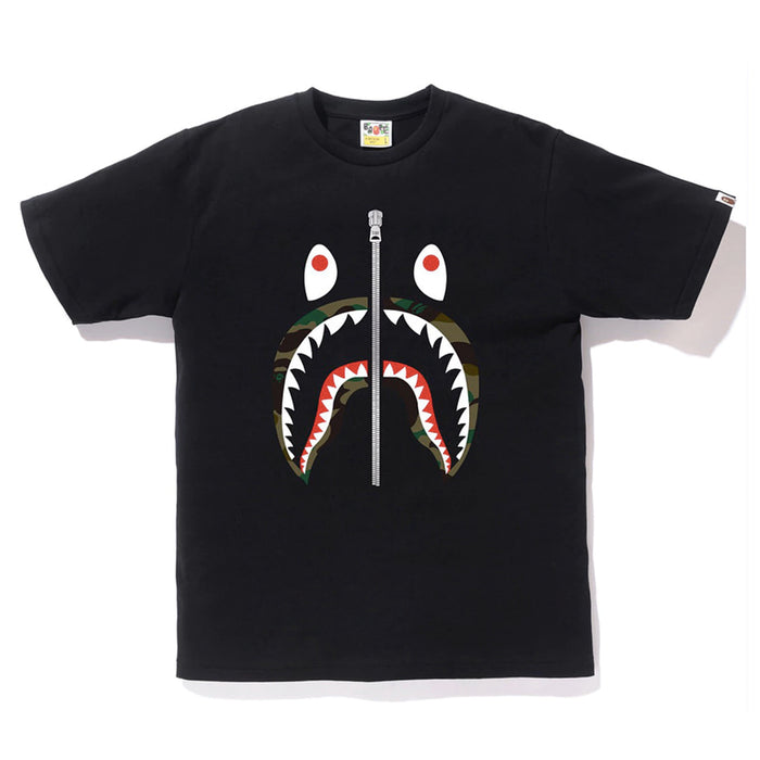 Bape 1st Camo Shark Tee Black/Green