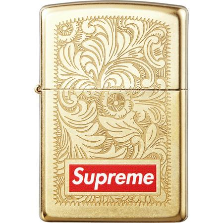 Supreme Engraved Brass Zippo Gold