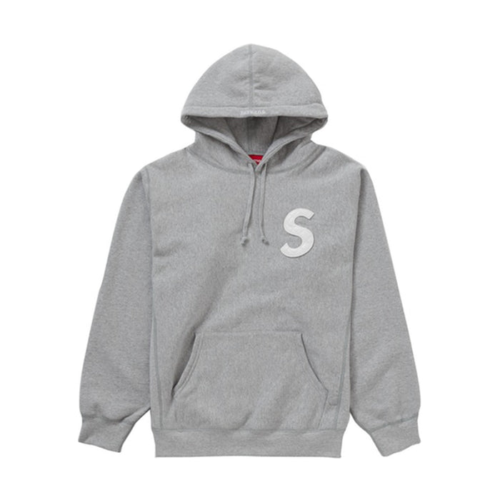 Supreme S Logo Hooded Sweatshirt (SS20) Heather Grey