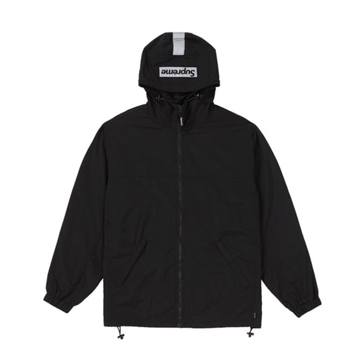 Supreme 2-Tone Zip Up Jacket Black