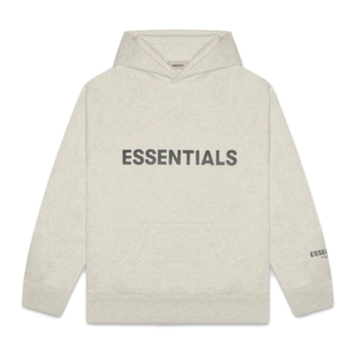FOG ESSENTIALS 3D Silicon Applique Pullover Hoodie Oatmeal Heather
