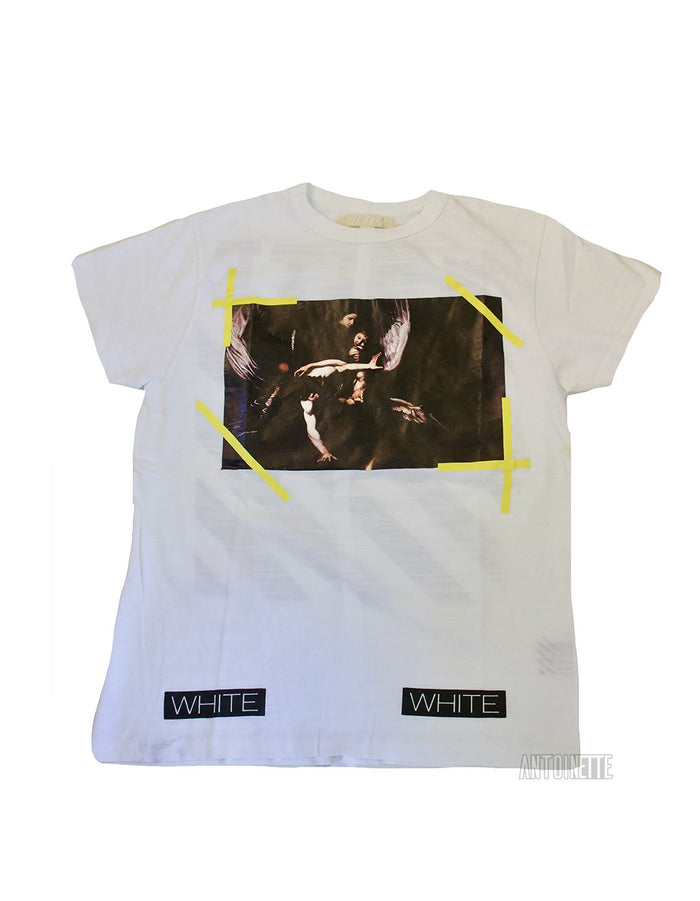 Off-White Diagonal Yellow Caravaggio T-Shirt