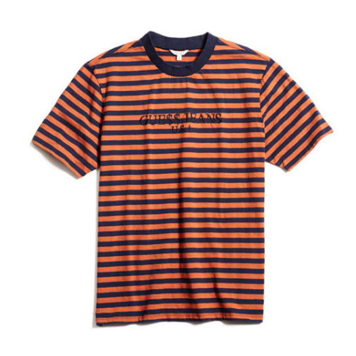 A$AP Rocky x Guess Jeans Striped Tee Orange