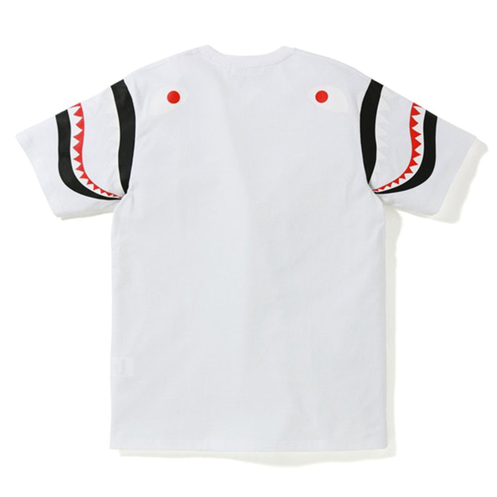 BAPE Shark Shoulder Tee (FW19) White