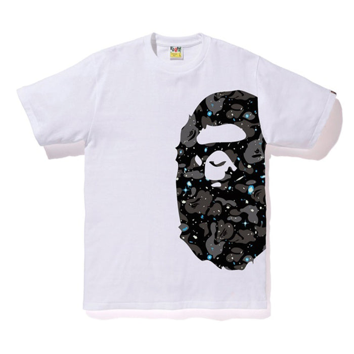 Bape Space Camo Side Big Ape Head Tee White