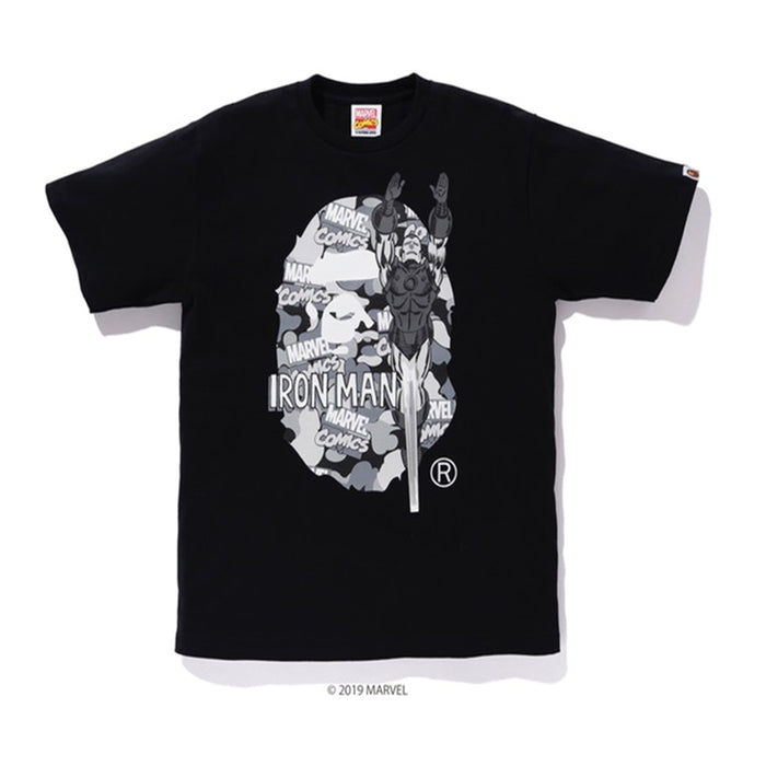 796abbe9 BAPE x Marvel Camo Iron Man Ex Tee Black