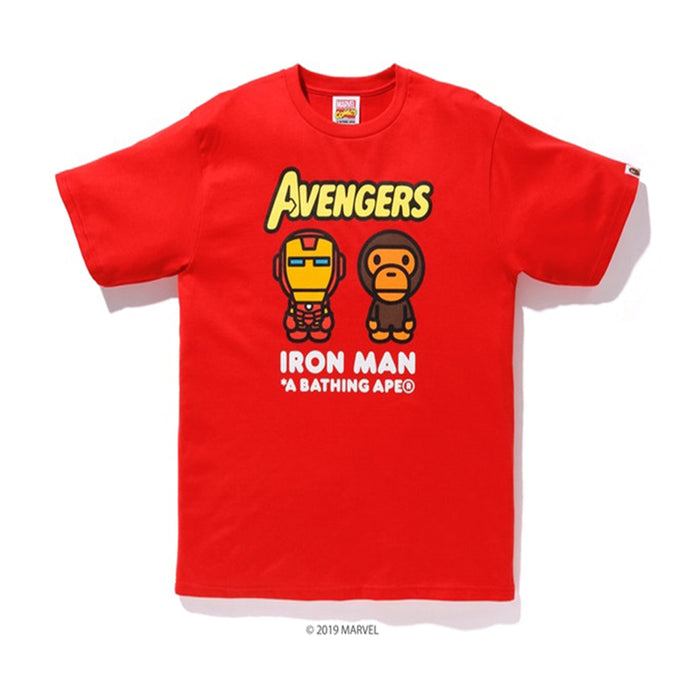 64e955e1 BAPE x Marvel Milo Iron Man Tee Red