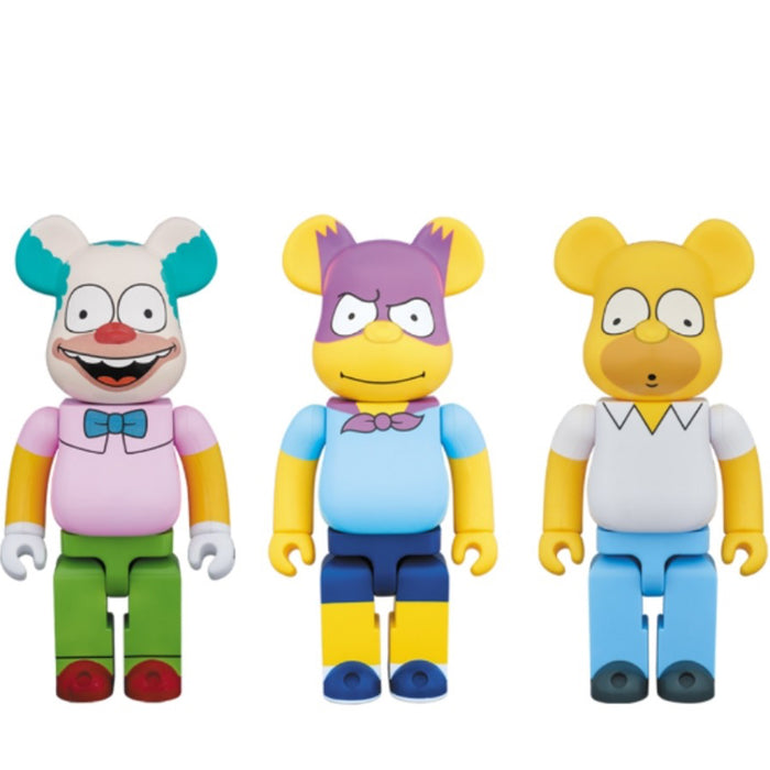 The Simpsons Medicom Toy BEARBRICK 1000% (Set of 3)