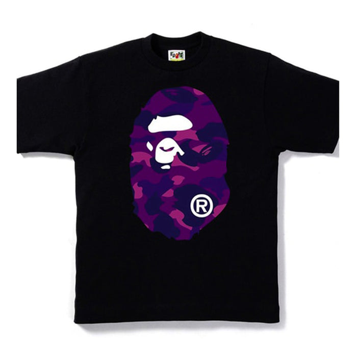 BAPE Color Camo Big Ape Head Tee Black/Purple