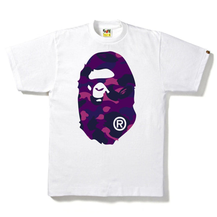 BAPE Color Camo Big Ape Head Tee White/Purple