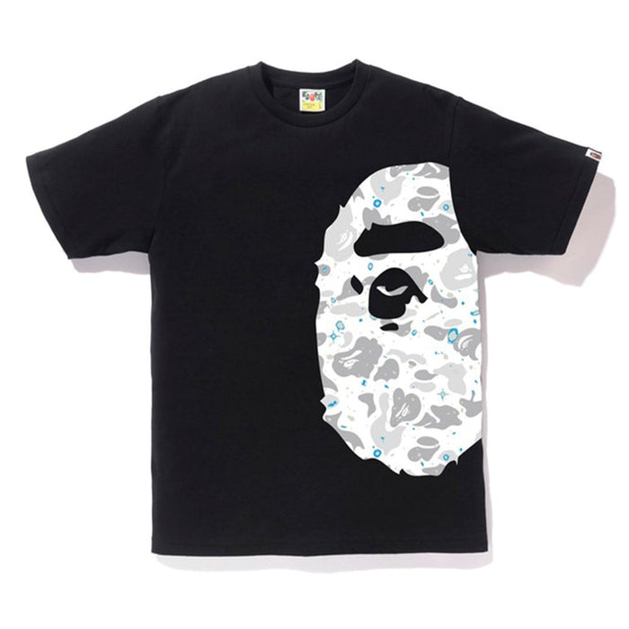 Bape Space Camo Side Big Ape Head Tee Black