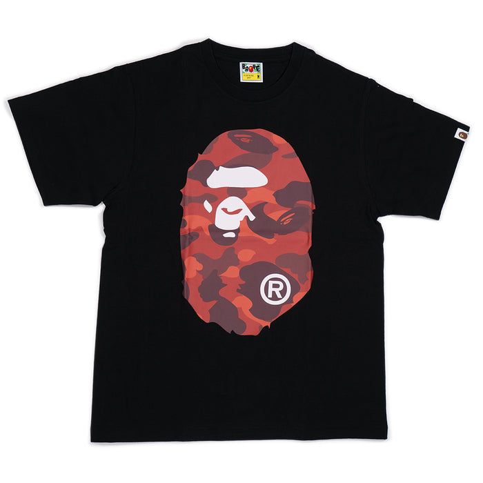 BAPE Color Camo Big Ape Head Tee Black/Red