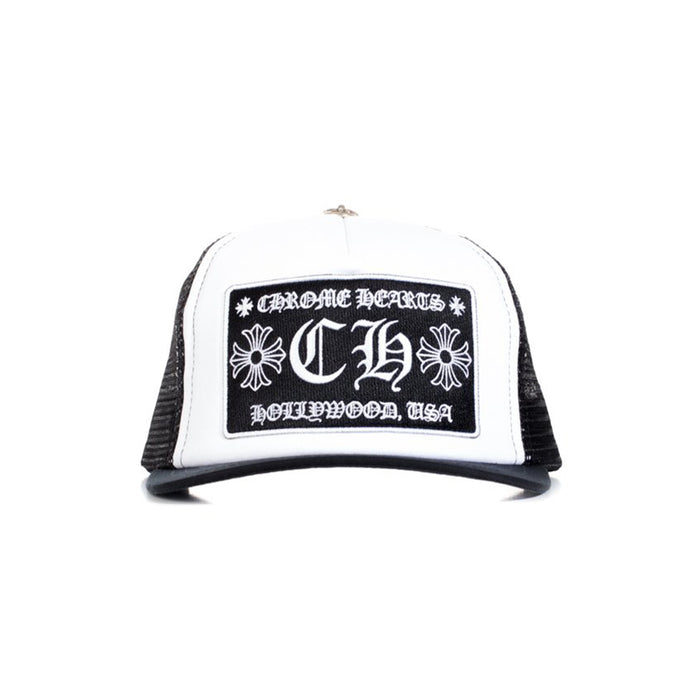 Chrome Hearts Hollywood Patch Trucker Cap Black/White